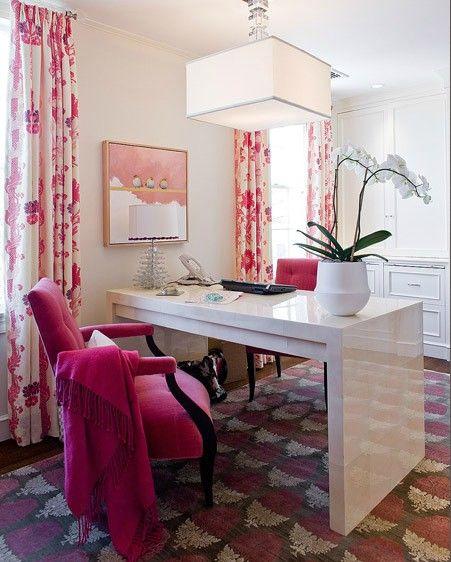 pink velvet office chair
